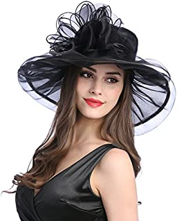 Women's Organza Church Kentucky Derby Fascinator Tea Party Wedding Hat