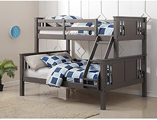 DONCO KIDS 318TFSG Series Bed Twin Full Slate Gray