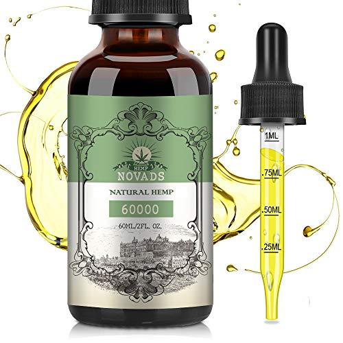 Premium Natural Oil Drops - Pure & Vegan - Highest Strength (60ml 60000mg)