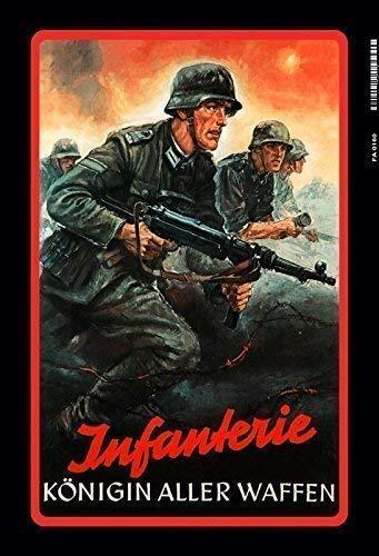 Deutsche Soldaten Infanterie Wehrmacht 2. Weltkrieg Blechschild Schild Blech Metall Metal Tin Sign 20 x 30 cm FA0160