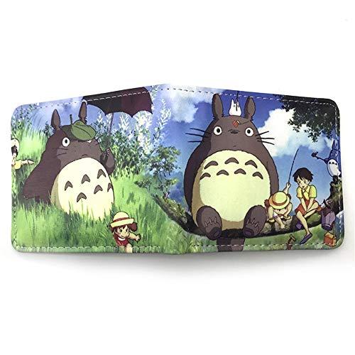Ga-yinuo Brieftasche Damen Geldbörse Mädchen Portmonee Herren Portemonnaie Wallet Jungen Portemonnaie Totoro Anime Wallet
