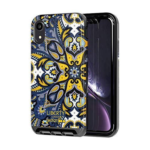 tech21 Evo Luxe for Apple iPhone XR Liberty London Faux Leather Phone Case with Non-Fade Print and 12 ft. Drop Protection, Marham