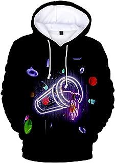 EMLAI Boy's Juice WRLD Hoodie 3D Print Rapper Hip Hop Sweatshirt Casual Jumper Pullover Top Streetwear