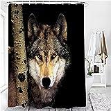 NUGKPRT Cortina de la Ducha,Printed Shower Curtain Set Waterproof Bathroom Decor with Anti-Slip Toilet Lid Cover Flannel Kitchen Mat Rug Doormat 1PC180x180cm-C