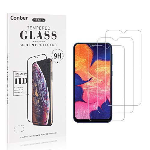 Conber [3 Stück] Displayschutzfolie kompatibel mit Samsung Galaxy A40, Panzerglas Schutzfolie für Samsung Galaxy A40 [9H Härte][Hüllenfreundlich]