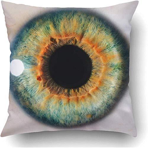 Kussenhoes Iris Green Okular Umano Riprese Macro Primo Piano White Pupilla Cornea Vista Medica reizen boeken met kleuren Vacanza Sofa polyester vierkant