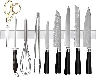 Ninonly Barre Magnétique pour Couteaux 40cm Porte Couteaux Aimanté, Barre à Couteaux Aimantée en Acier Inoxydable, Mural S...