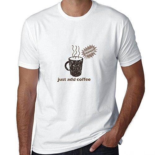 Instant Human gewoon koffie toevoegen - Hilarische heren T-shirt