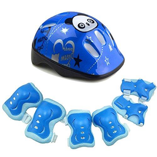 Juego de protección para casco de monopatín para niños, 7 en 1,...