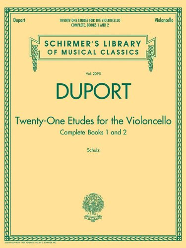 Duport - 21 Etudes for the Violoncello, Complete Books 1 & 2: Schirmer Library of Classics Volume 2095