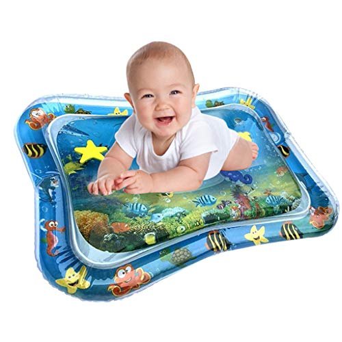 Review Great Inflatable Tummy Time Mat Summer Gift for Infants - Awesome Water Beach Mat - Durable R...