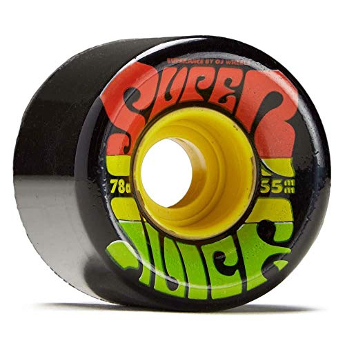 OJ Soft Jamaica Mini Super Juice Skateboard-Räder, 55 mm, Schwarz