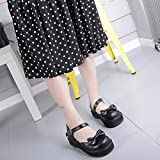 DJDLNK Zapatos De Lolita Dulce para Niña, Cabeza Redonda, Hebilla De Una Palabra, Zapatos De Mujer, Lindos Zapatos De Bowknot, Sandalias