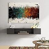 FITUEYES Mueble TV Colgante Madera Gabinete Flotante Estante en la Pared Color Negro Mate DS210003WB