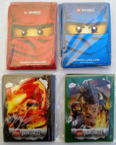 Lego Ninjago Trading Card Game: 120 Hüllen - Kartenhüllen mit Motiv Rot Blau Grün Schwarz / Sleeves für Karten / Neu
