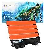 Printing Pleasure 4 Compatibles W2070A W2071A W2072A W2073A 117A con Chip Cartuchos de tóner para HP Color Laser 150a 150nw 150w MFP 178nw 179fnw 179fwg, Alta Capacidad (BK 1.000 & C/M/Y 700 páginas)