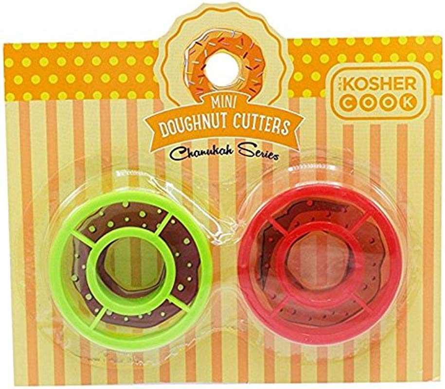 Mini Donut Cookie Cutters 2 Piece Set Plastic Doughnut Shaped Cutter Chanukah Cookware And Bakeware By The Kosher Cook