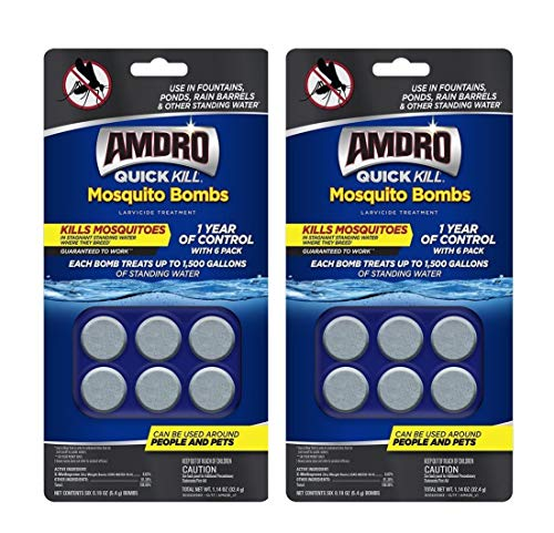Amdro Quick Kill Mosquito Bombs, 6-Count, Pack of 2