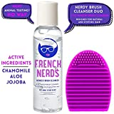 French Nerds Makeup Brush Cleaner Shampoo and Brush Egg, 2oz