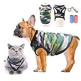 TVMALL Mascota Perro Camiseta perrito ropa para gatos camisas deportivas de camuflaje malla de...