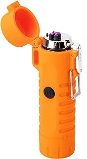 ولاعة مضادة للماء USB بلازما ولاعة قابلة للشحن ولاعة كهربائية مقاومة للماء مع كشاف ولاعة لهب ولاعة ضد الرياح للارتداء في الهواء الطلق والتنزه, , ,