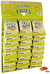 Smiths Savoury Snacks Scampi and lemon Fries Carded Pub Favourites Snacks27 g (Pack of 24) These iconic pub-inspired snacks are the ideal accompaniment to your favourite lunchtime sandwich Feeling nostalgic? Smiths Scampi Fries are the ideal savoury ...