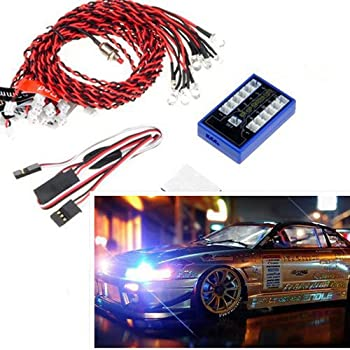 Soondar 12 LED 4 operation modes Multi-color RC Car Flashing Light Lamp System 4.8-6.0V