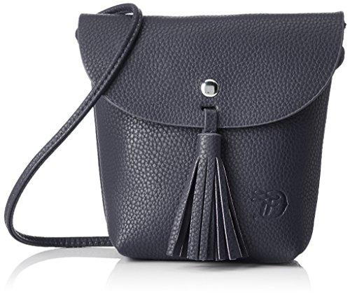 TOM TAILOR Umhängetasche Damen Ida, Blau (Blau), 4.5x16x17 cm, Damen Handtasche TOM TAILOR Handtaschen, Taschen für Damen