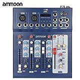 ammoon Console de Mixage Table de Mixage 3 Canaux Mic Ligne Numérique Audio Mixeur...
