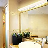 GJY Led Espejo Espejo Headlightled Faro Impermeable Simple Anti-Niebla Lámpara Espejo de Maquillaje Cuarto de Baño Wc Tocador Espejo Iluminación Del Gabinete,40Cm de Atenuación