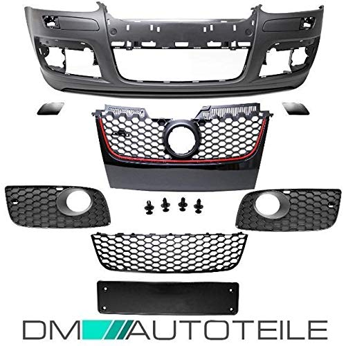 DM Autoteile Golf 5 V Front Stoßstange Vorne + Wabengrill Schwarz GTI + Gitter geschlossen