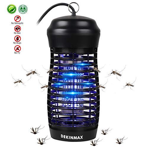 DEKINMAX Elektrischer Insektenvernichter, UV Insektenvernichter 9W Mückenfalle vor Elektrischem Schlag Tragbare gegen Mücken, Fliegen, Moskitos für Innen
