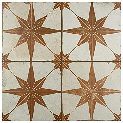 SomerTile FPESTRO Astre Ceramic Floor and Wall Tile, Oxide