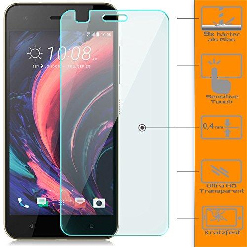 Saxonia 2 Stück Bildschirmschutz Folie kompatibel mit HTC Desire 10 Lifestyle Bildschirmschutzfolie aus gehärtetem Glas Schutzglas Glasfolie Schutzfolie | HD Klar Transparent