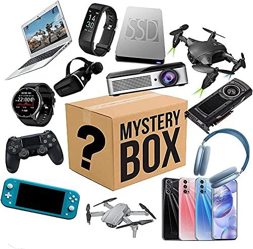 Lievevt Caja misteriosa Mystery Lucky Box, Mystery Box Electronics, Cajas de Misterio Aleatorio, Caja de Sorpresa de cumpleaños, Caja de Novedad para Adultos Sorpresa Regalo, como Tablet PC VR Gafas,