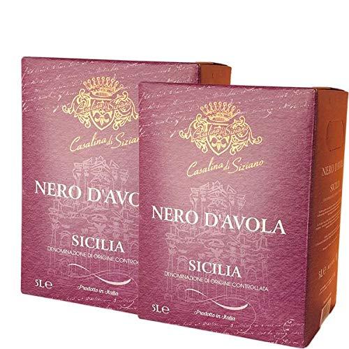 Rotwein Italien Nero d`Avola Codici Bag in Box trocken (2x5L)