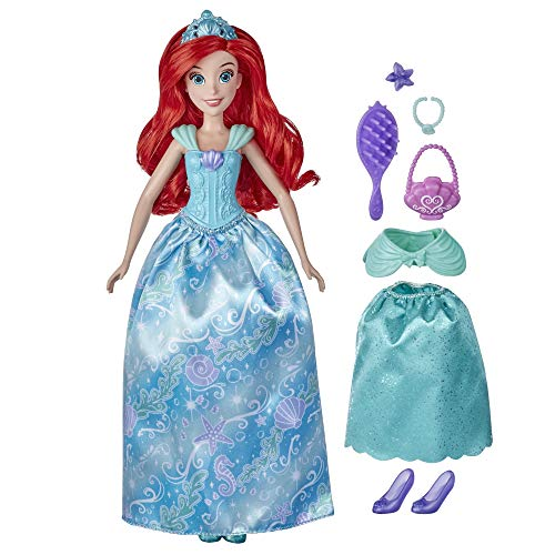 Disney Princess Style Surprise Ariel Fashion Doll with 10 Fashions and Accessories, Hidden Surprises Toy for Girls 3 Years Old and Up