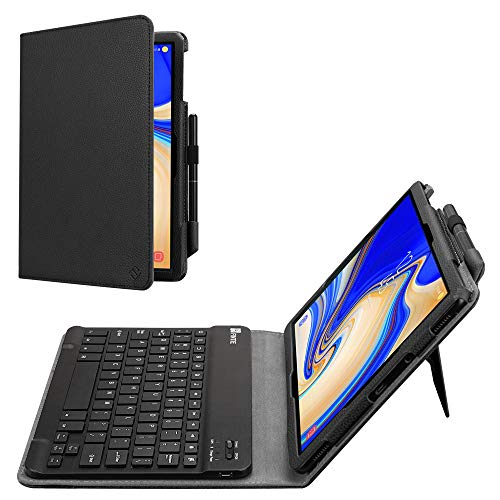 FINTIE For Samsung Galaxy Tab S4 10.5 Keyboard Case, Slim Fit Folio PU Leather Case Cover with Detachable Magnetical Bluetooth Keyboard for Samsung Galaxy Tab S4 10.5 (SM-T830/T835/T837), Black