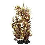 DealMux Hojas de bambú de Fish Tank Ornamento Planta, de 15 Pulgadas, Amarillo/Marrón