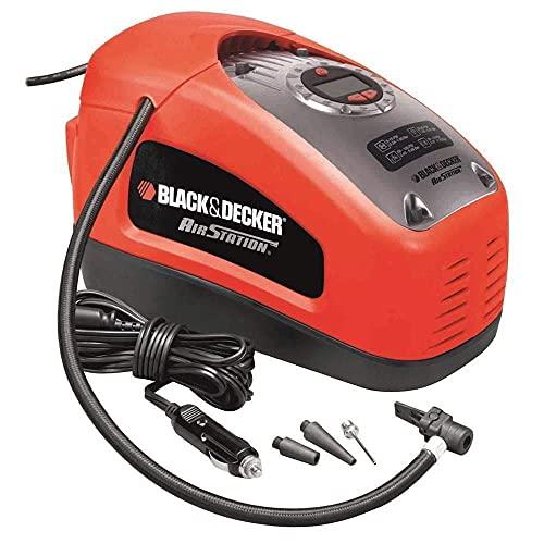 Black+Decker ASI300-QS - Compresor de aire, 160 PSI, 11 bar, Fuente de alimentación: Cable eléctrico, Rojo/Negro