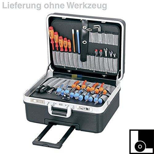 Hepco&Becker 00 5970 8019 0059708019 ORIGINAL Werkzeugkoffer Hartschalenkoffer Basic XL Trolley ABS Kunststoff Schlagfest Schwarz Aluminiumrahmen mit Tragegurt
