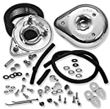 S&S Cycle Teardrop Motorcycle Air Cleaner Kit for Harley Davidson 2008-13 Touring mod