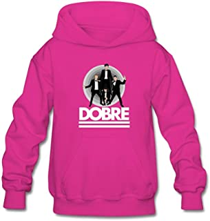 Unisex Kid's Black-White Dobre Brothers Sweatshirt for 10-15yrs Boys and Girls