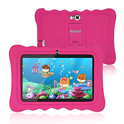"Kids Tablet 7 inch, WiFi Android 9.0 Pie Tablet for Kids, 2GB RAM 16GB ROM, Kid Edition Tablets, Parental Control, Education Apps Pre Installed, Dual Camera, 7"" HD Display, Kids- Proof Case, Pink"