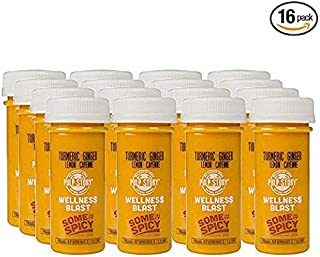 Cold Pressed Juice Shots - Turmeric, Ginger, Lemon & Cayenne Juice - Organic Health & Wellness Blast - 2 Ounce Single Servings, 16 Count - By Pulp Story Juice
