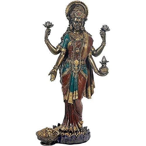 Figur Lakshmi indischer Gott des Glücks der Weisheit und des Reichtums Hinduismus Figur Lakshmi indischer Gott des Glücks der Weisheit und des Reichtums Hinduismus
