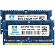 motoeagle DDR3L 1600MHz SODIMM 8GB PC3L-12800S 16GB Kit (2x8GB) Unbuffered Non-ECC 1.35V CL11 2Rx8 204-Pin PC3-12800 Computer Portatile Memorie