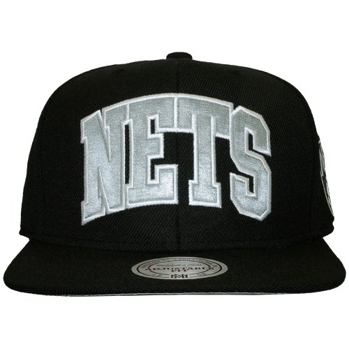 Mitchell And Ness - Casquette Snapback Homme Brooklyn Nets Satin Arch - Black