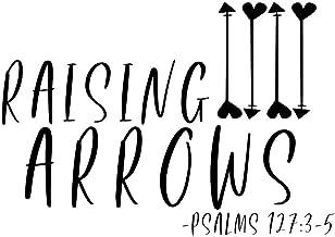 Creative Concepts Ideas Raising Arrows Psalms Christian CCI Decal Vinyl Sticker|Cars Trucks Vans Walls Laptop|Black|7.5 x 4.5 in|CCI2372