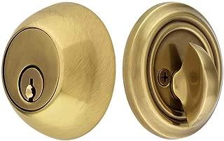Solid Brass Single Cylinder Regular Style Deadbolt Antique Brass with A 2 3/8